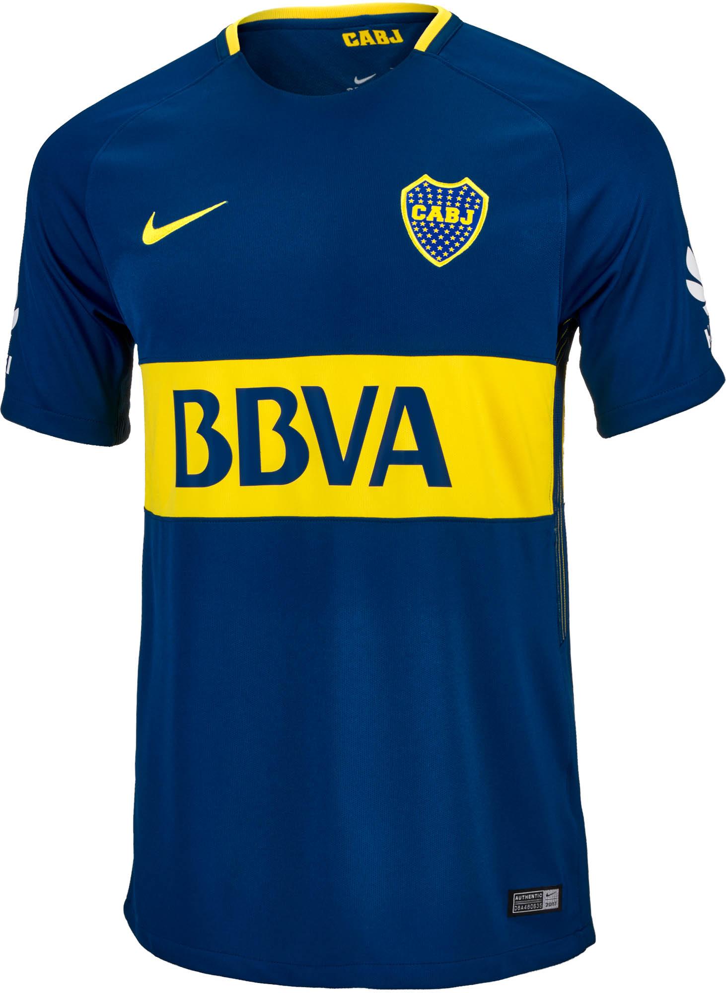 Nike Boca Juniors Home Jersey 17 18 Boca Juniors Gear