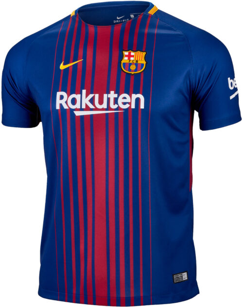 Nike Kids Barcelona Home Jersey 2017-18 NS