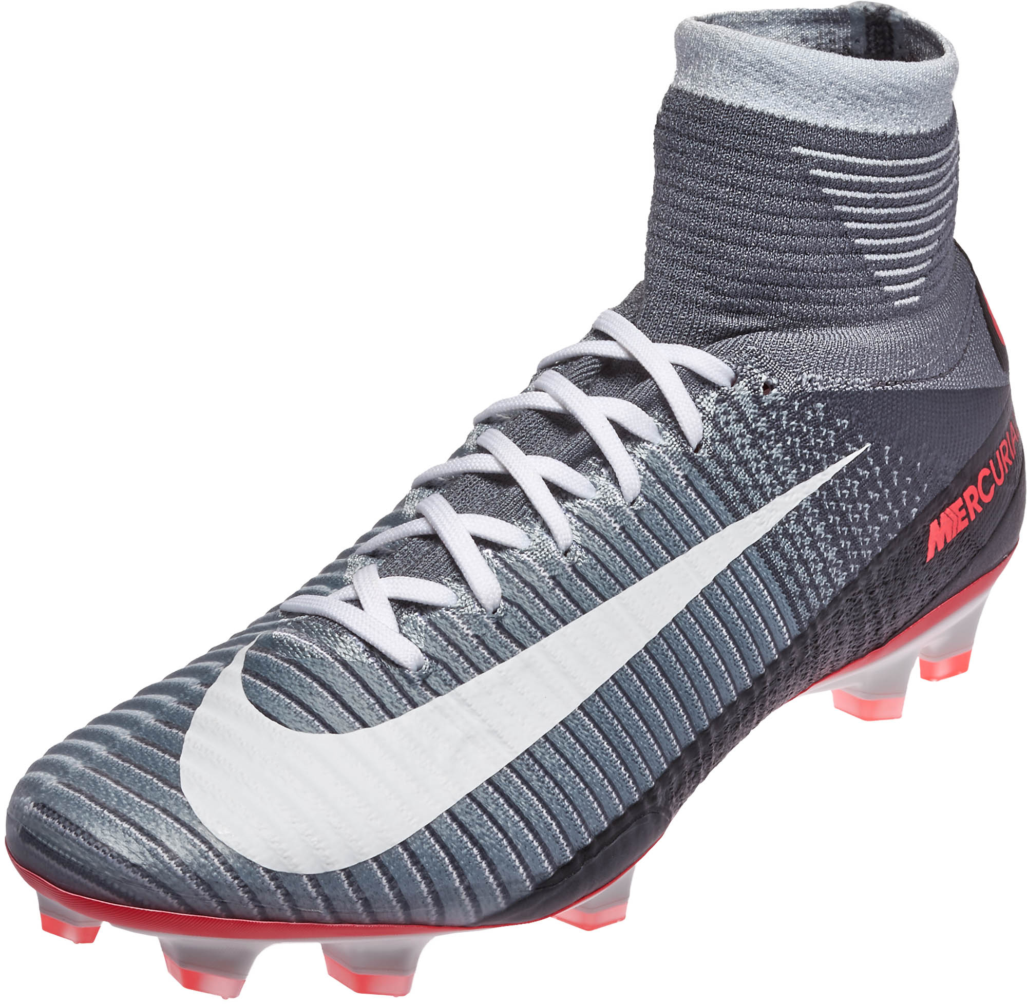 30df1a5279f8 Nike Mercurial Superfly V FG- Grey Nike Superfly Cleats