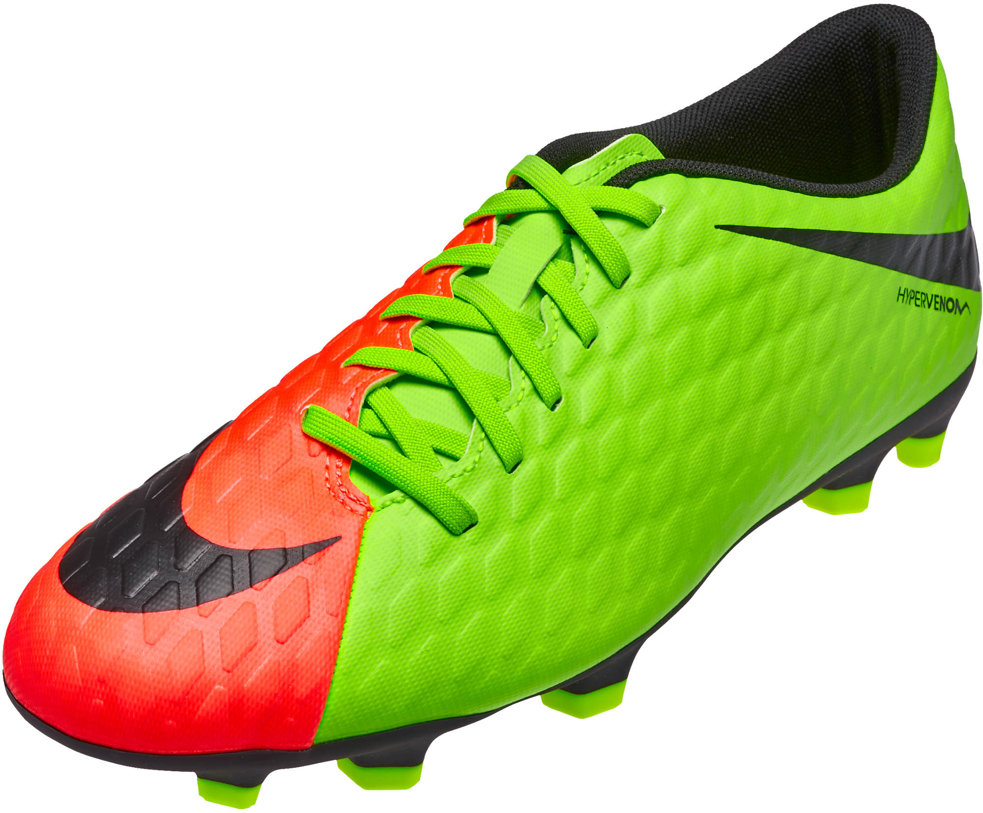 save off 549d1 bd526 Nike Hypervenom Phade III FG – Electric Green/Hyper Orange