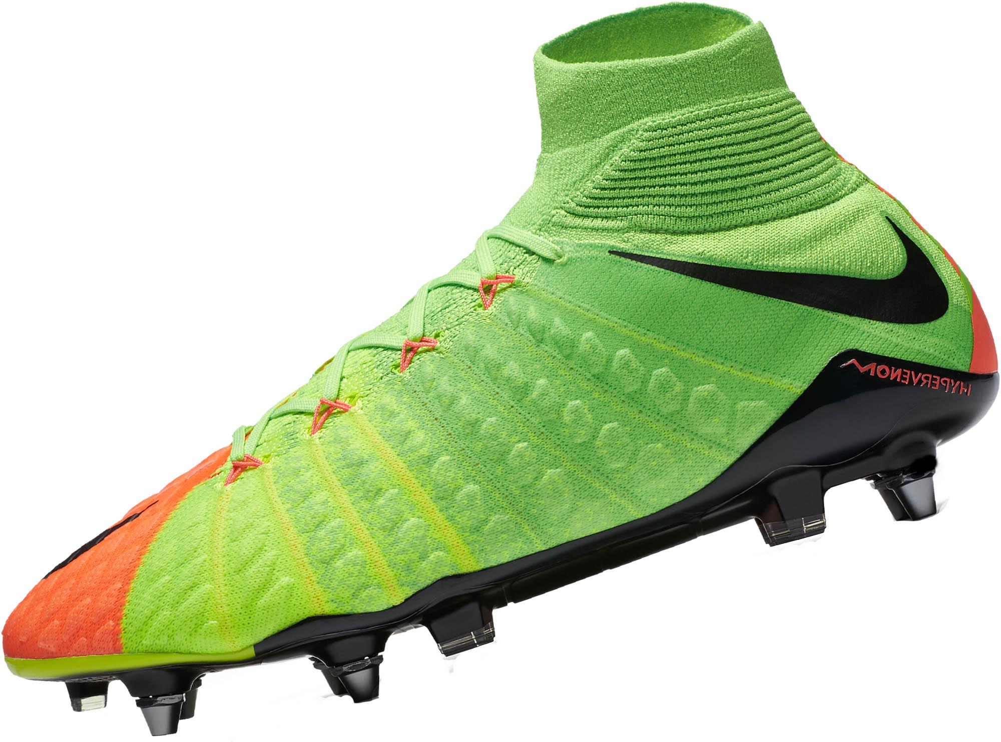 00a76ec1e6f Nike Hypervenom Phantom DF III SG-Pro – Electric Green Hyper Orange