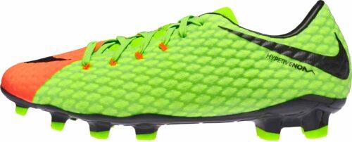 Nike Hypervenom Phelon III FG – Electric Green/Hyper Orange