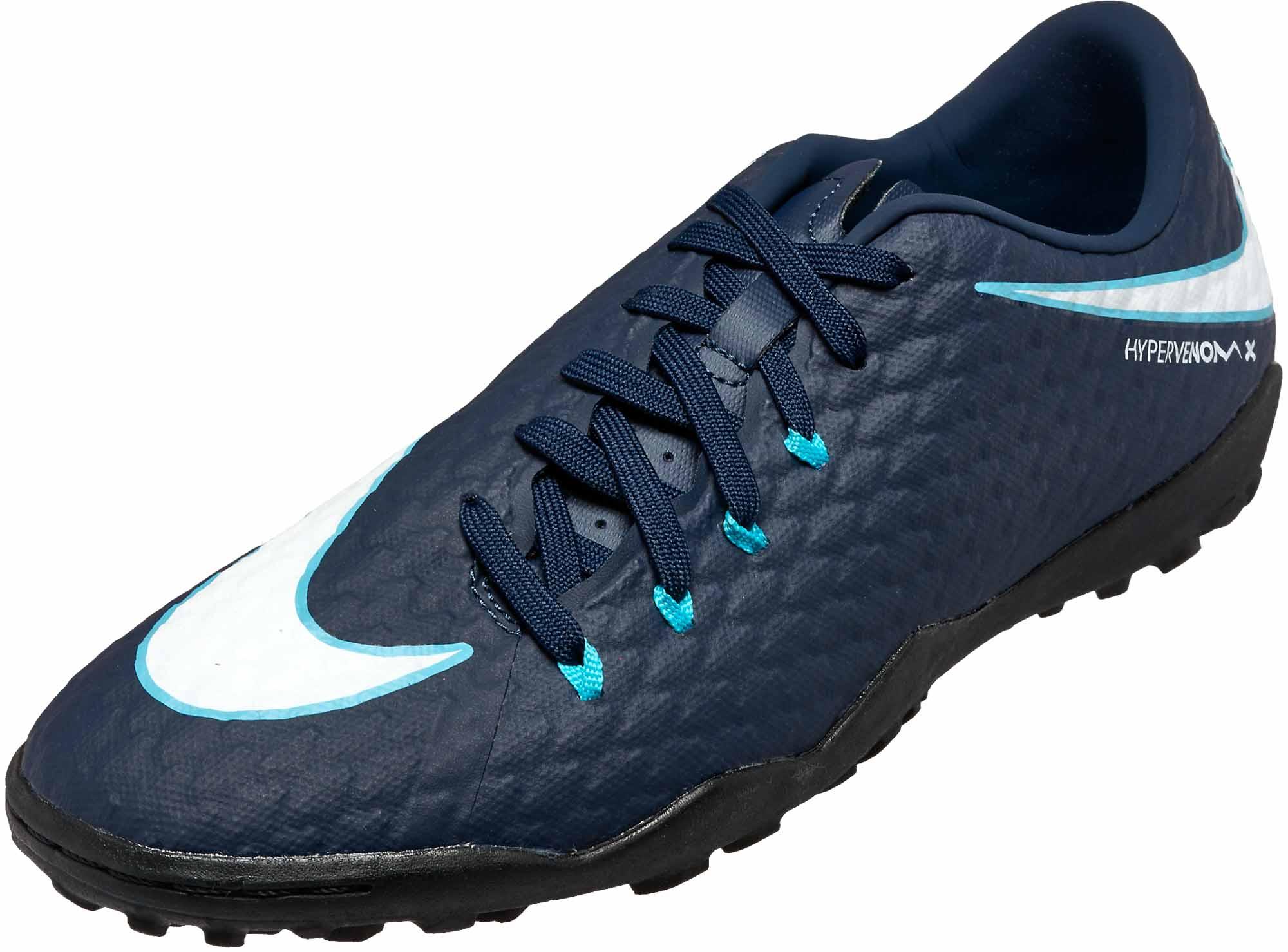 newest e3653 936da Nike Hypervenom Phelon III TF – Obsidian/White