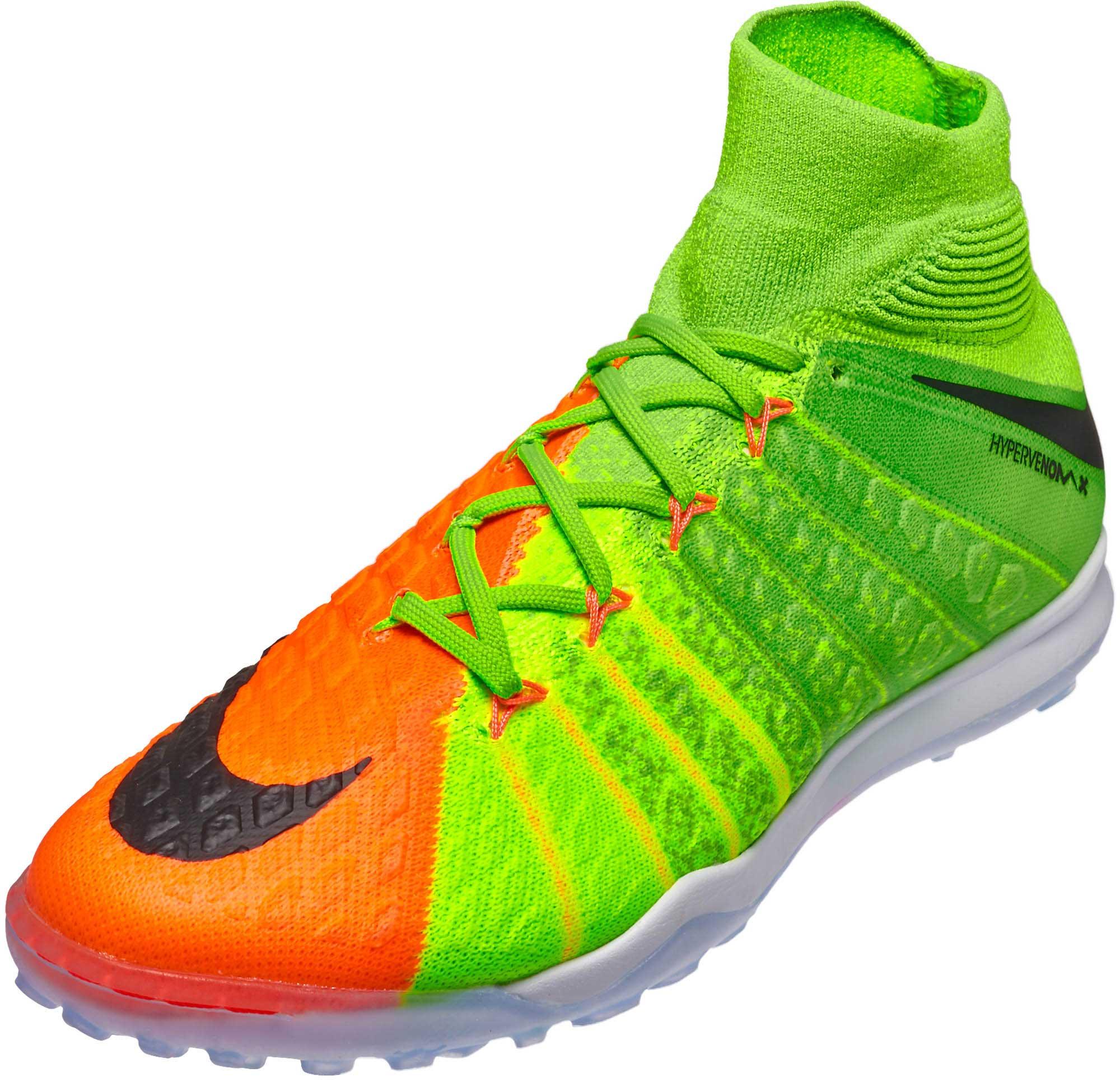 fe74aed8e91 Nike HypervenomX Proximo II TF – Electric Green Hyper Orange