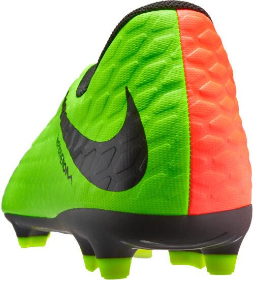 Nike Kids Hypervenom Phade III FG – Electric Green/Hyper Orange