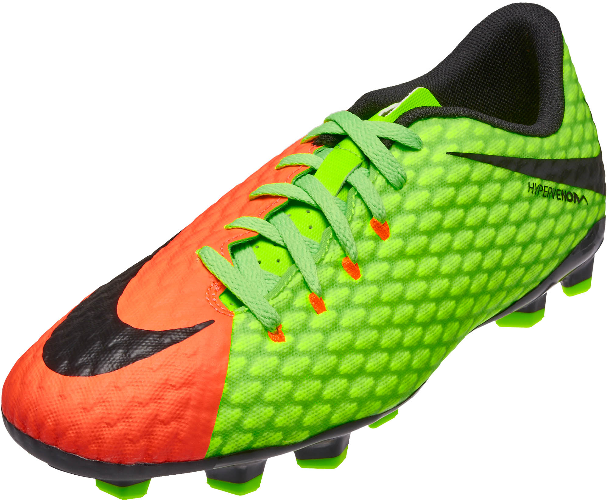 c59f0e74262 Nike Kids Hypervenom Phelon III FG – Electric Green Hyper Orange