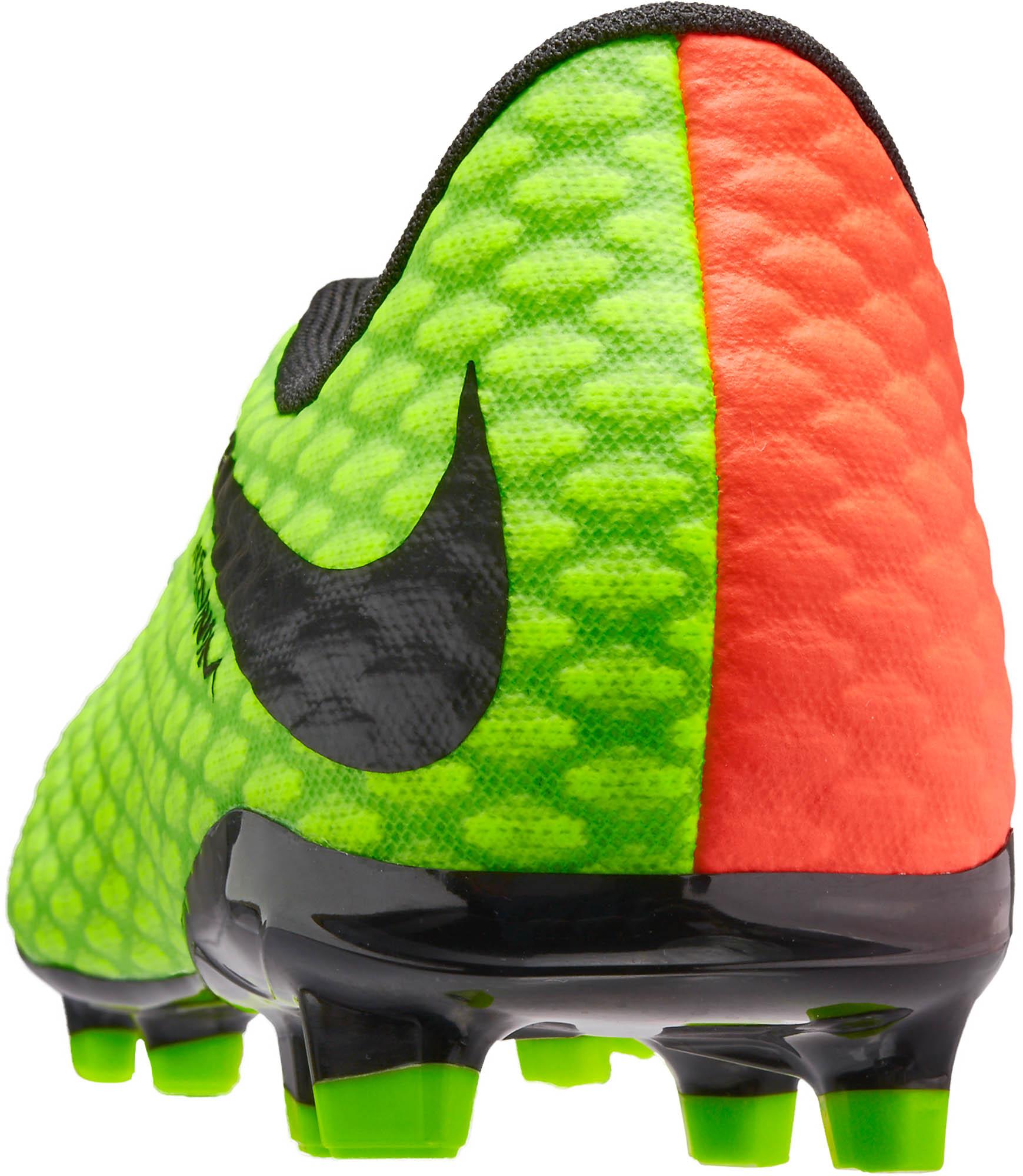 4076769df90dc Nike Kids Hypervenom Phelon III FG – Electric Green Hyper Orange