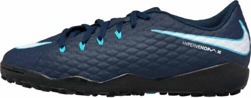 Nike Kids HypervenomX Phelon III TF – Obsidian/White