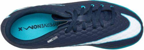 Nike Kids HypervenomX Phelon III IC – Obsidian/White
