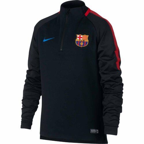 Nike Kids Barcelona Drill Top – Black/University Red