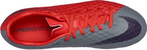 Nike Womens Hypervenom Phelon III FG – Cool Grey/Purple Dynasty