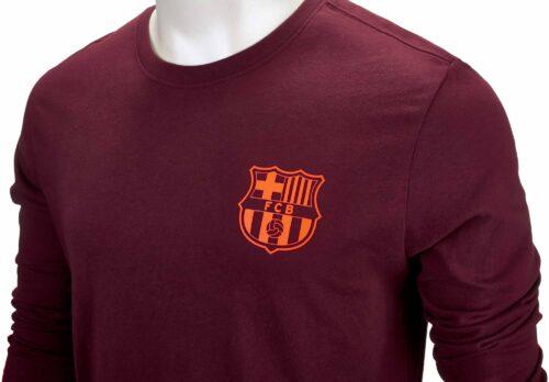 Nike Barcelona L/S Tee – Night Maroon