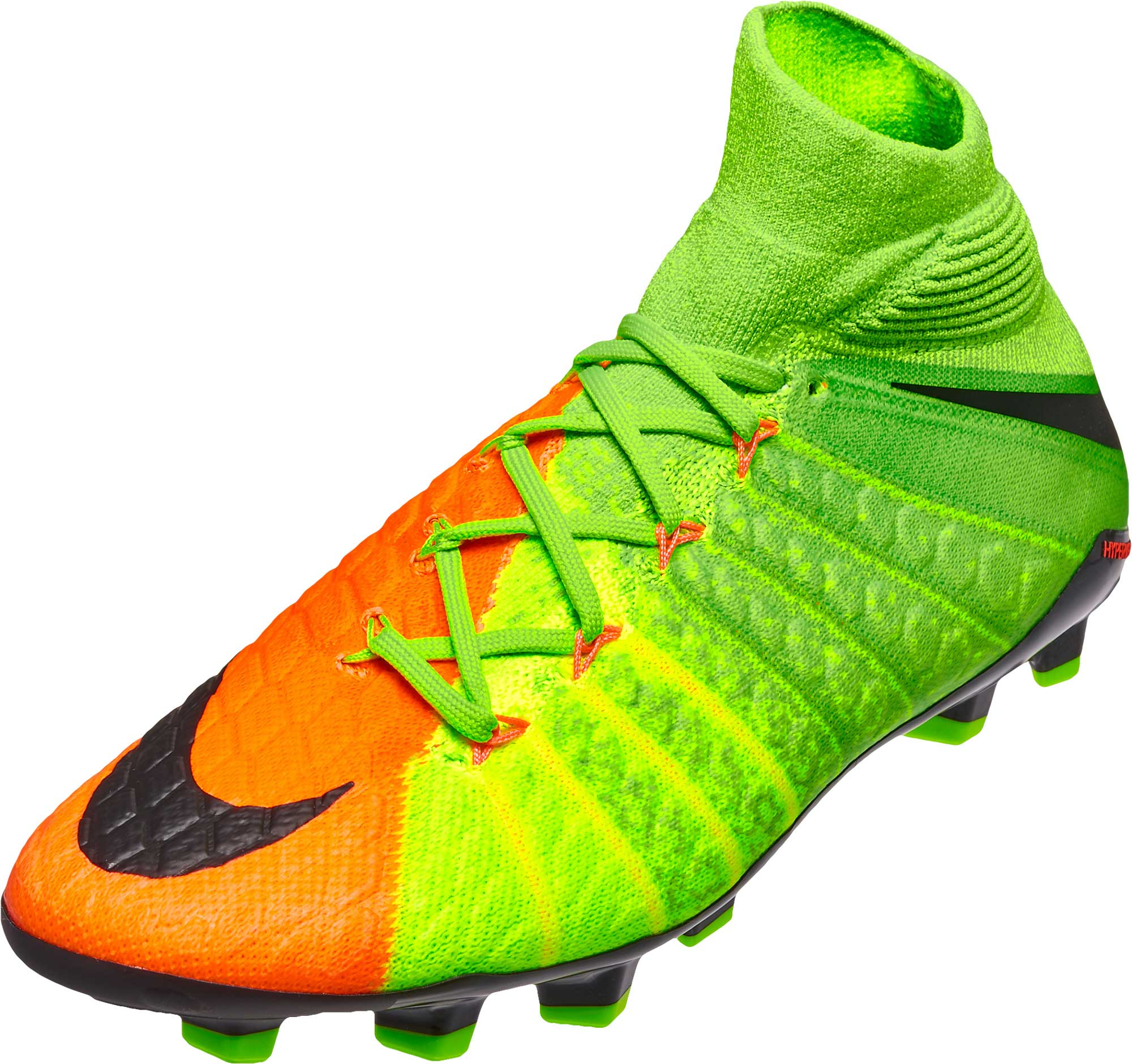 e6eb850b572c Nike Kids Hypervenom Phantom DF III FG – Electric Green/Hyper Orange