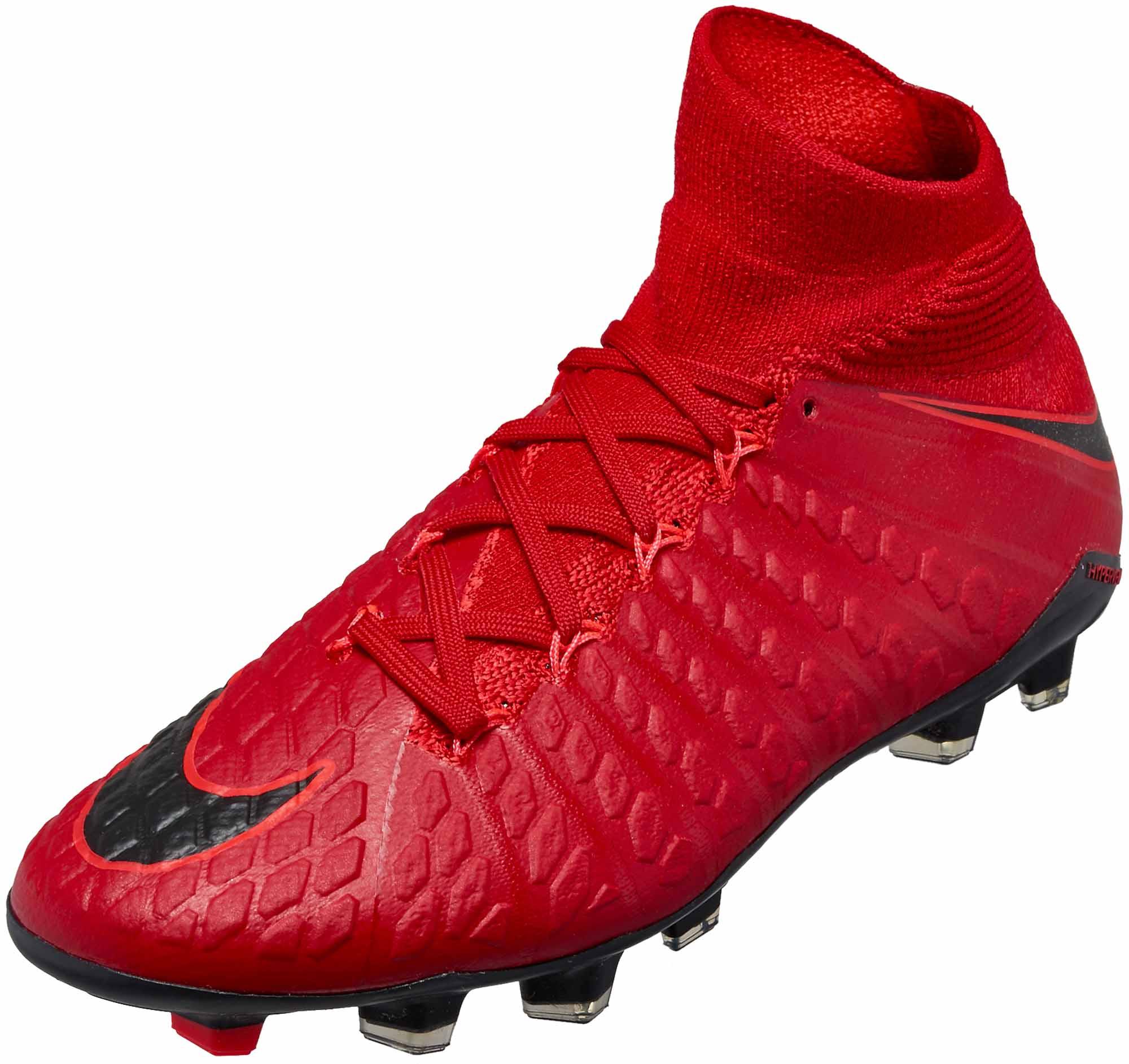 215fe0e7ac5 Nike Kids Hypervenom Phantom III FG – University Red Black