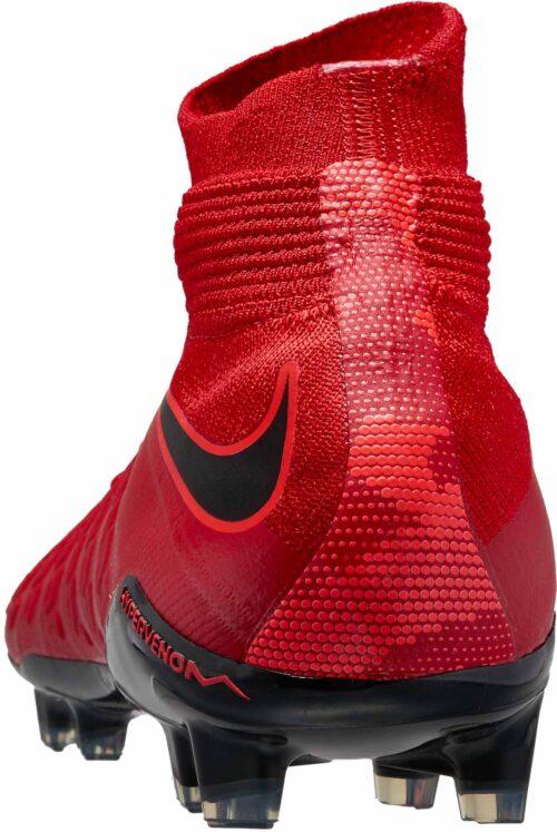 Nike Kids Hypervenom Phantom III FG – University Red/Black