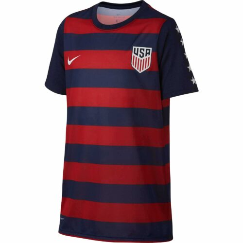 Nike Kids USA Match Tee – Midnight Navy/University Red