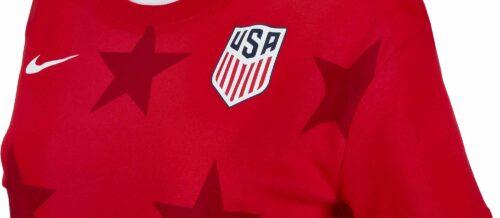 Nike Womens USA Hi-lo Tee – University Red