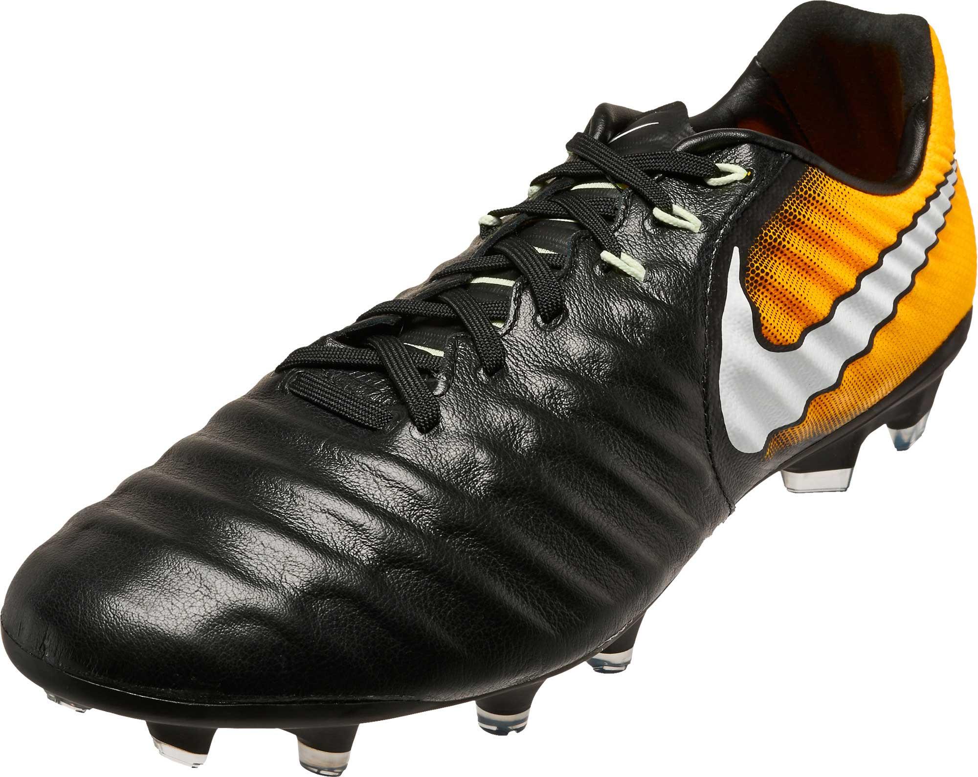 01e4fa911e0 Nike Tiempo Legacy III FG - Black White Laser Orange Volt