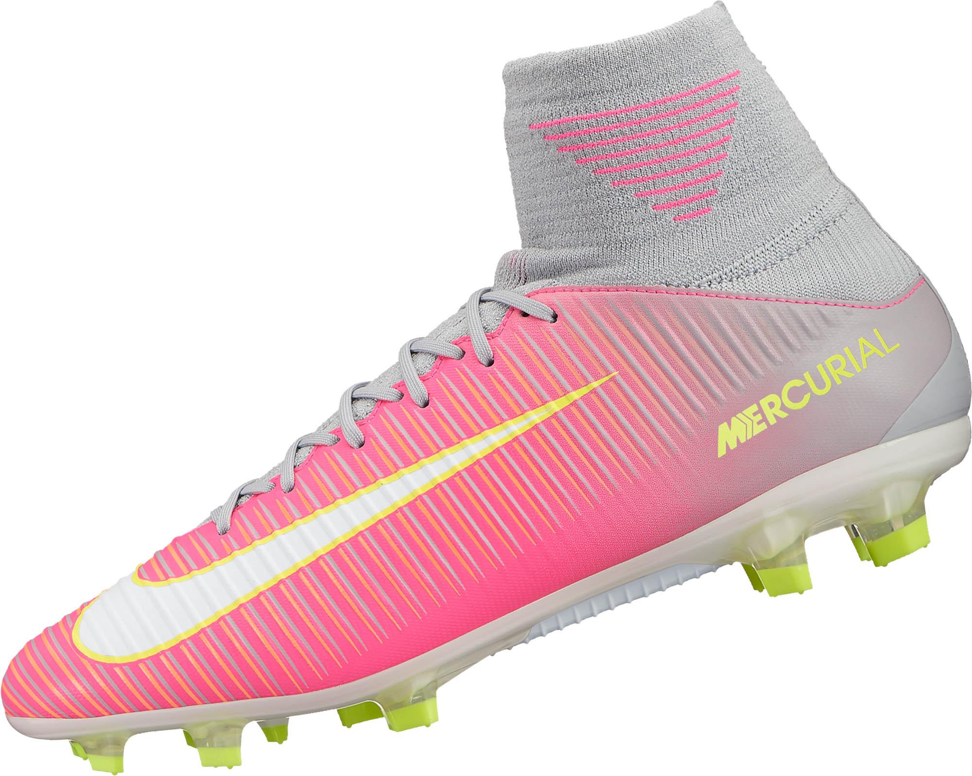 Nike Womens Mercurial Veloce III DF FG – Hyper Pink White e507fc5036