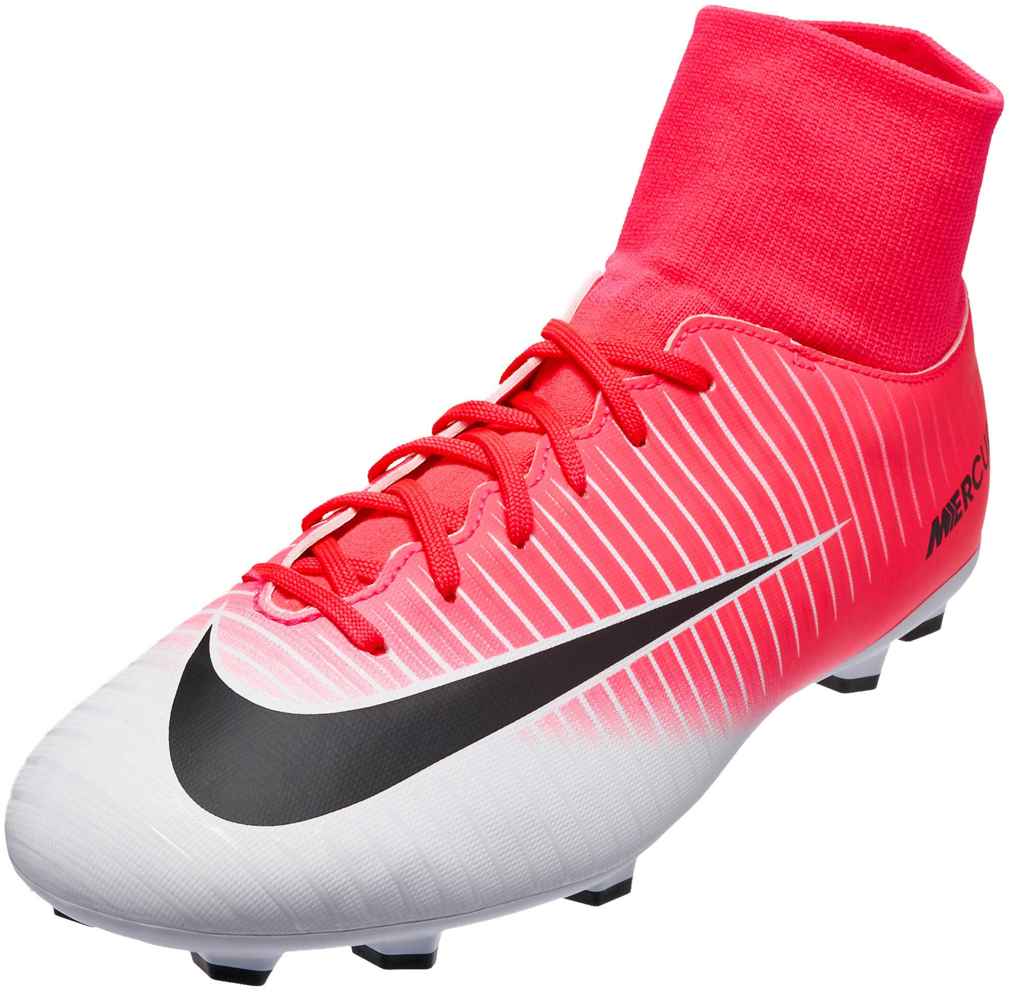 nike kids mercurial victory vi pink mercurial cleats. Black Bedroom Furniture Sets. Home Design Ideas