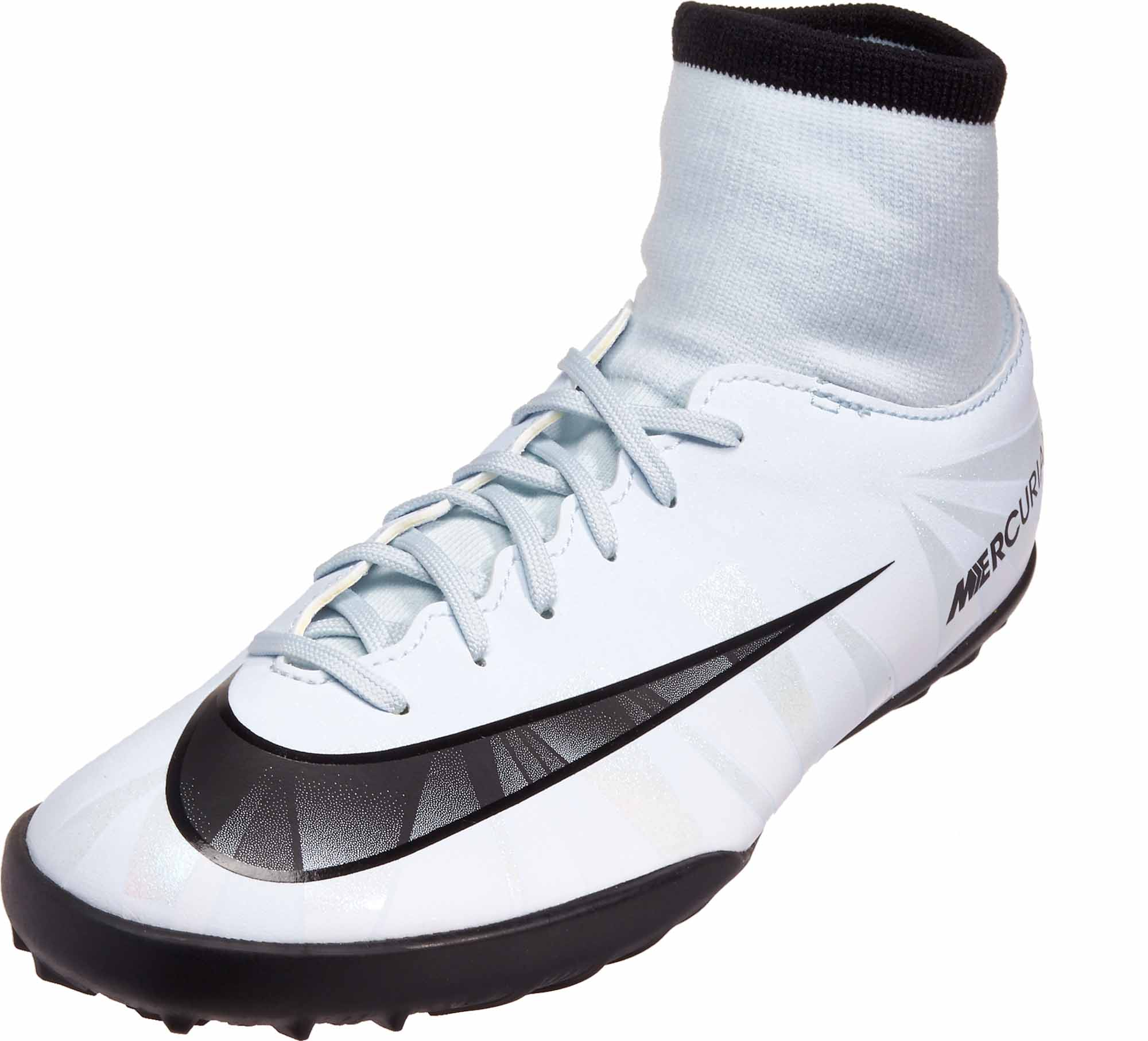 hot sale online 605fd ca806 Nike Kids MercurialX Victory VI DF TF – CR7 – Blue Tint Black