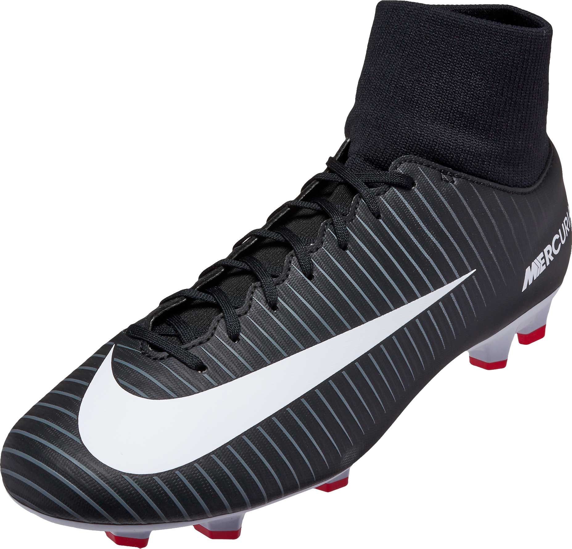 32475b5edb97 Nike Mercurial Victory VI DF FG Soccer Cleats - Black & White ...