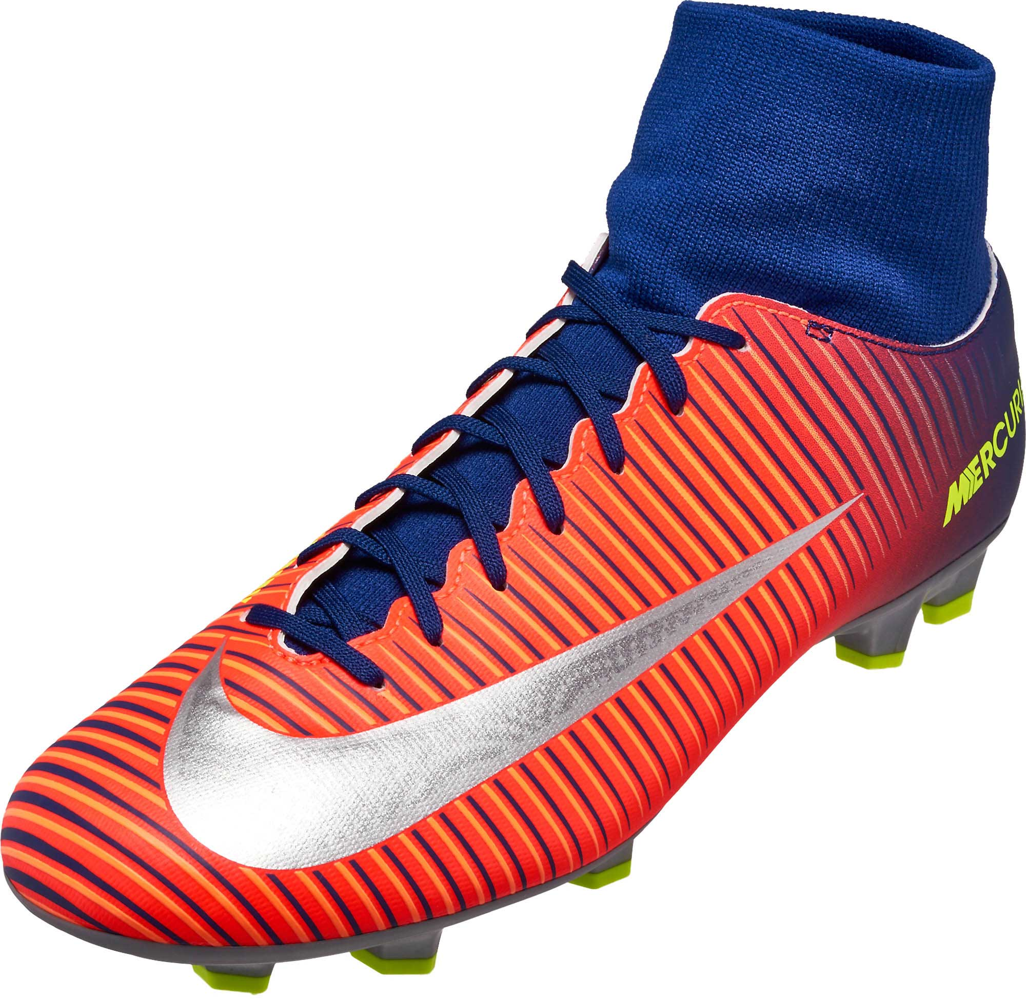 714a7d05c1c5 Nike Mercurial Victory VI DF - Blue & Chrome Mercurial Soccer Cleats