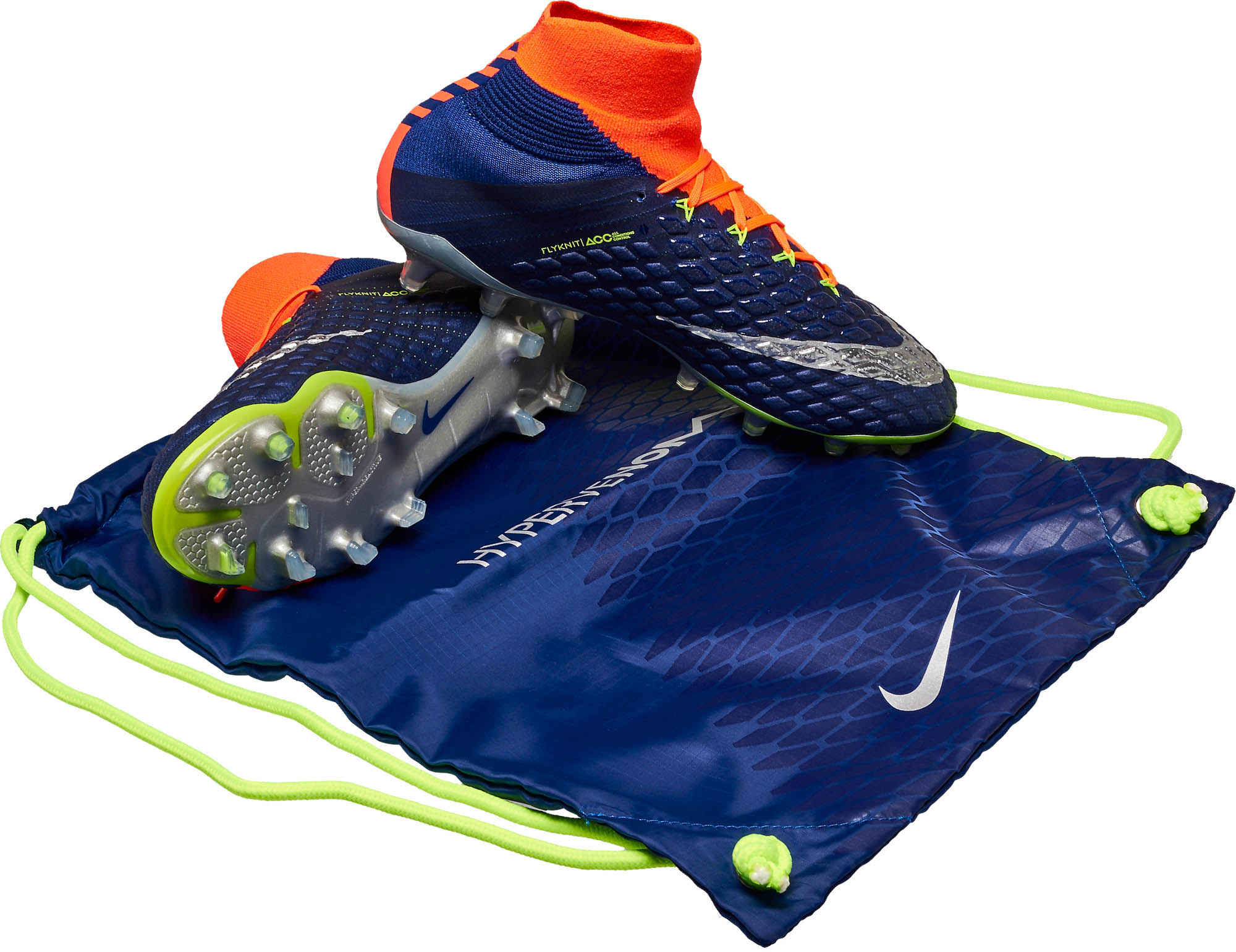 newest 02a93 2a211 Nike Hypervenom Phantom III DF FG – Deep Royal Chrome