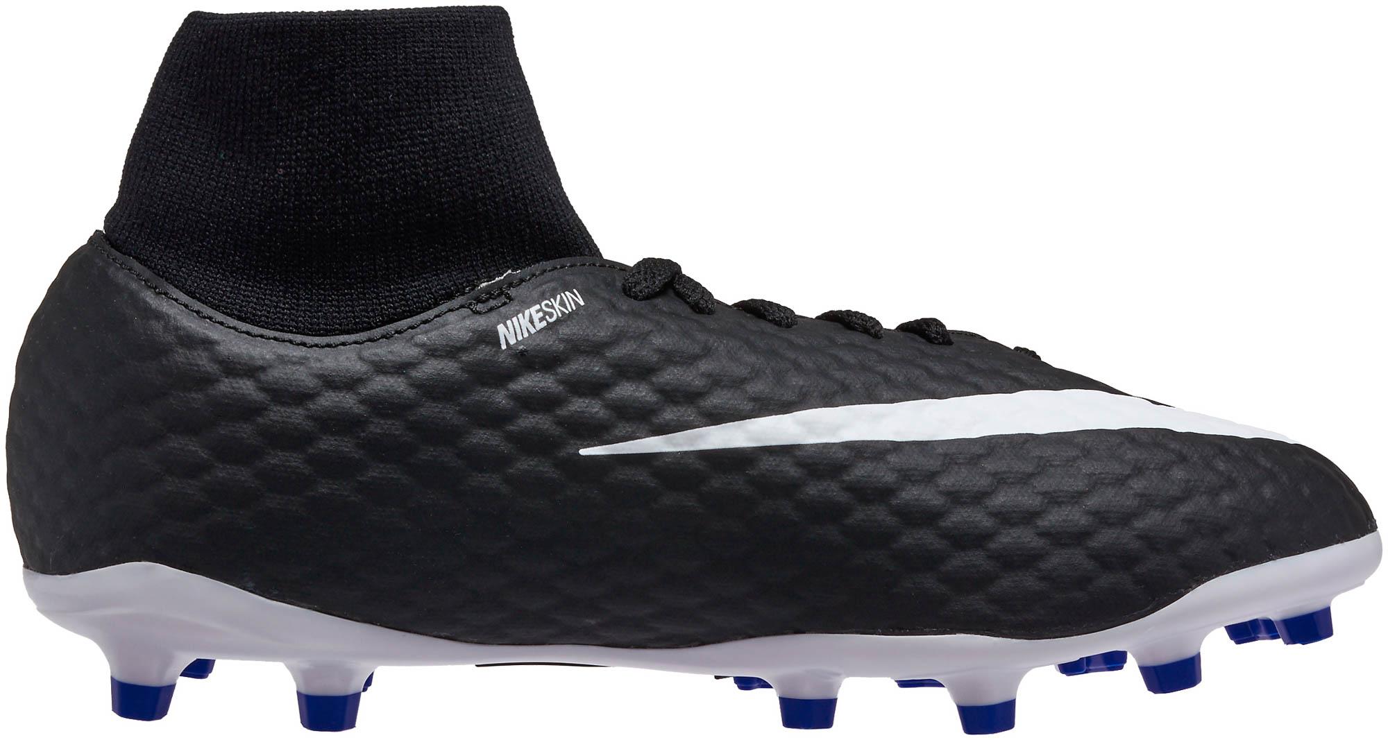best service a211a 602c9 Nike Kids Hypervenom Phelon III DF- Black Soccer Cleats
