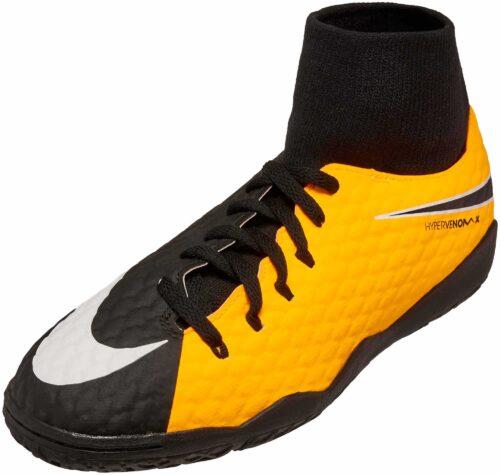 orange and black youth wrestling shoes