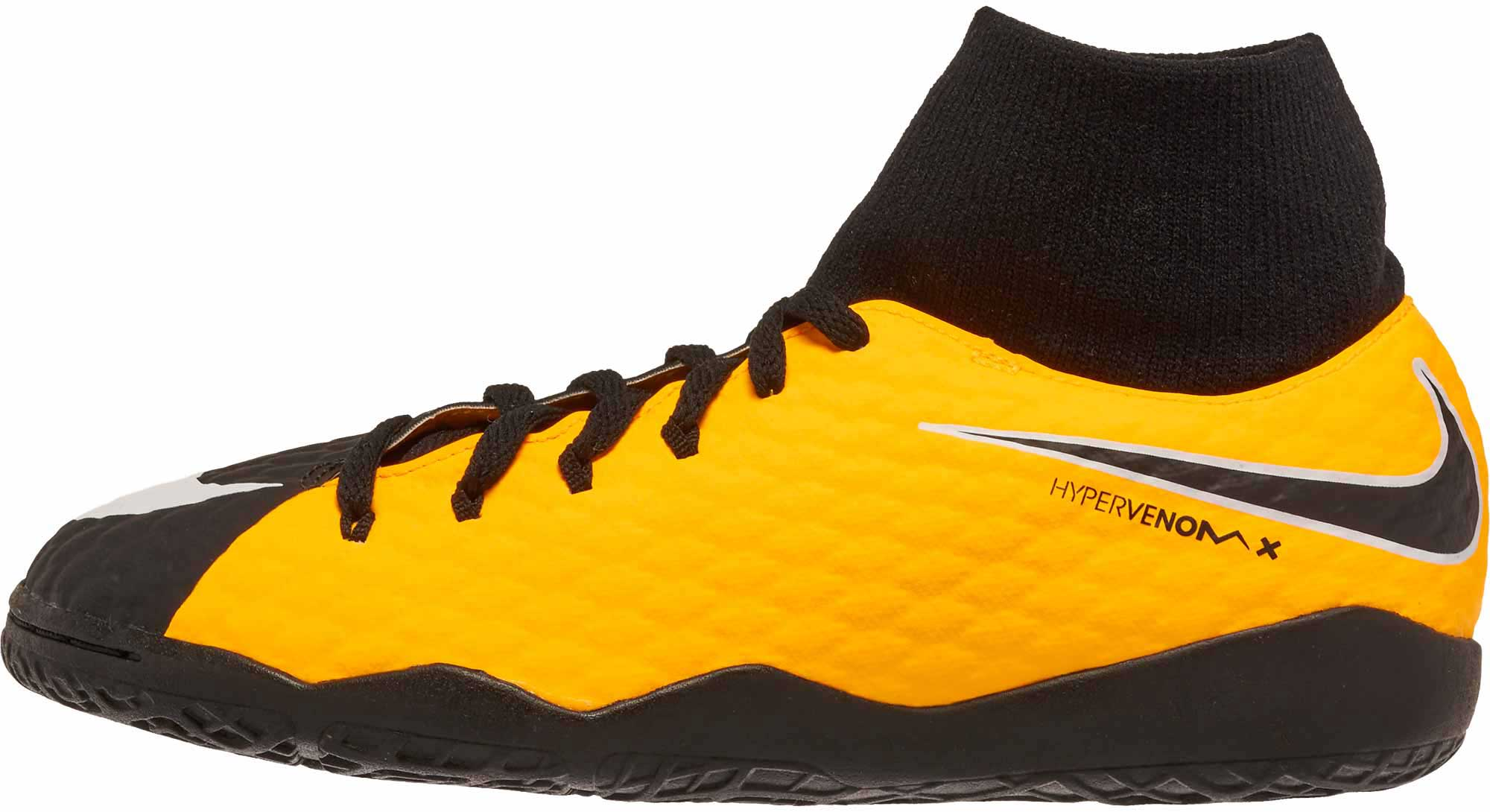 4b88cb697a3 Nike Kids Hypervenom Phelon III DF IC – Laser Orange Black