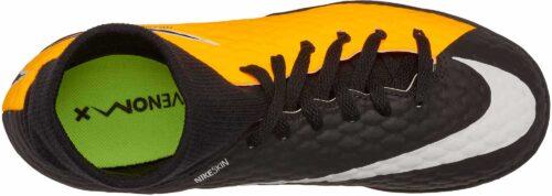 Nike Kids Hypervenom Phelon III DF IC – Laser Orange/Black