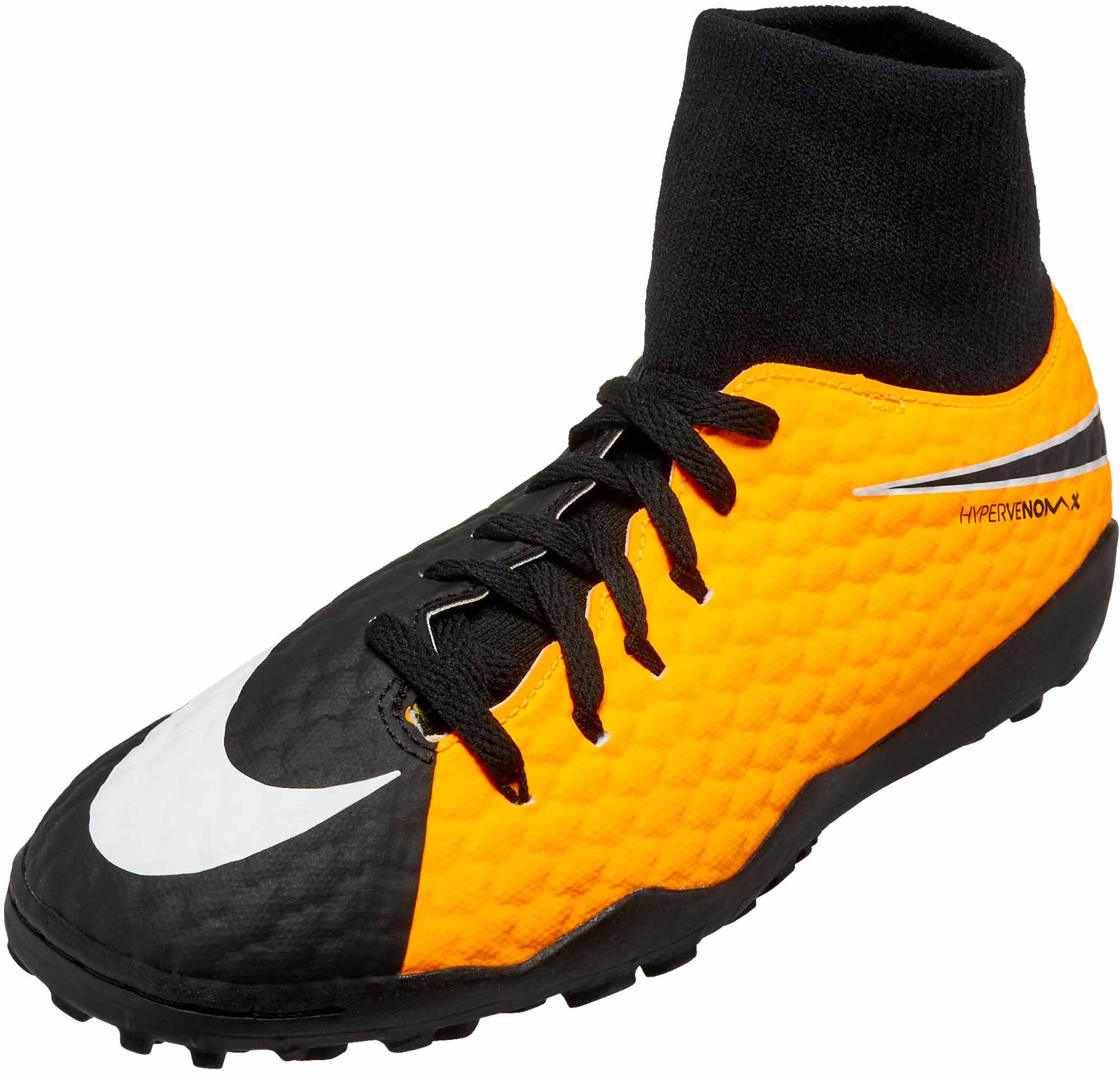 los angeles ab46c ac088 Nike Kids Hypervenom Phelon III DF TF – Laser Orange/Black