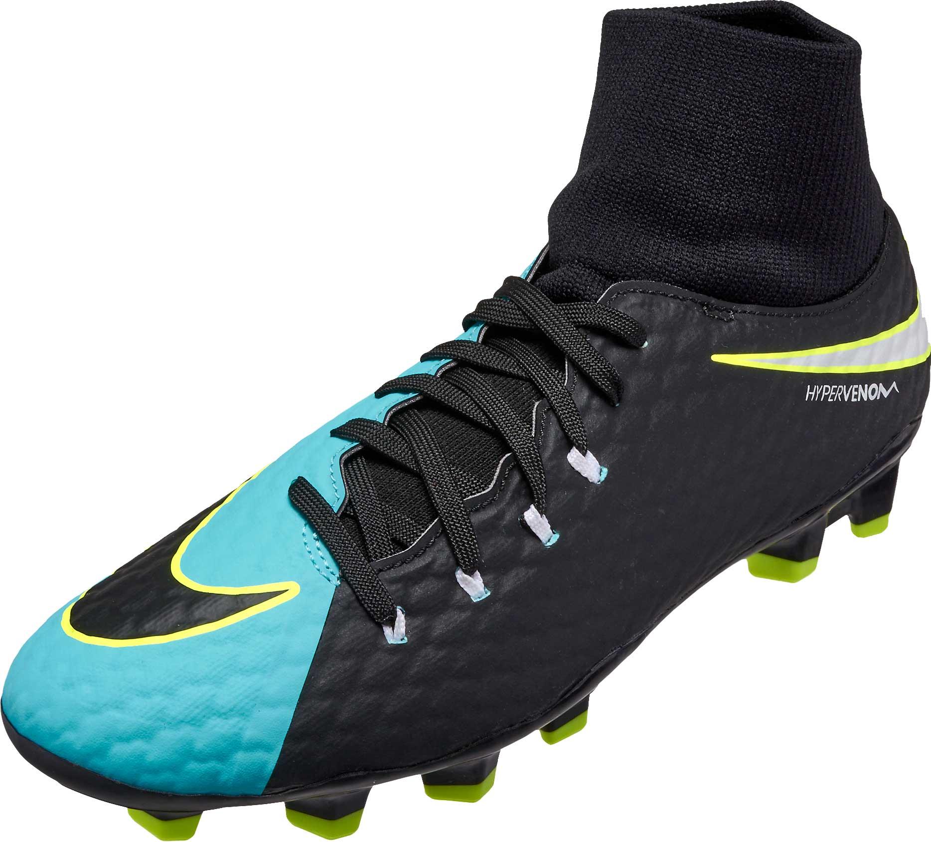 f96828b12 Light Aqua Nike Hypervenom Phelon III DF FG Soccer Shoes - SoccerPro.com