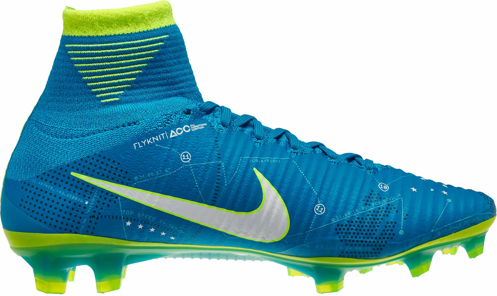 35d5d10c244 Nike Mercurial Superfly V SX FG – Neymar – Blue Orbit White