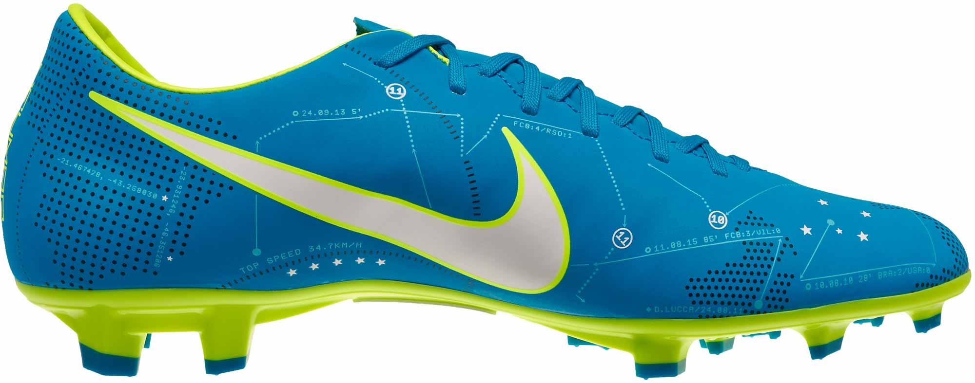 Nike Mercurial Victory 4 Cleats Green And Blue Jordan Future Laces ... 32b5e2d09e3