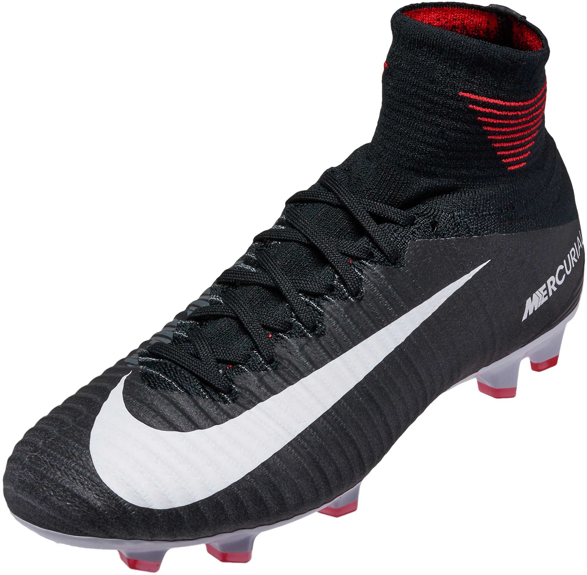 size 40 518ef fc9b3 Nike Kids Mercurial Superfly V FG – Black/White