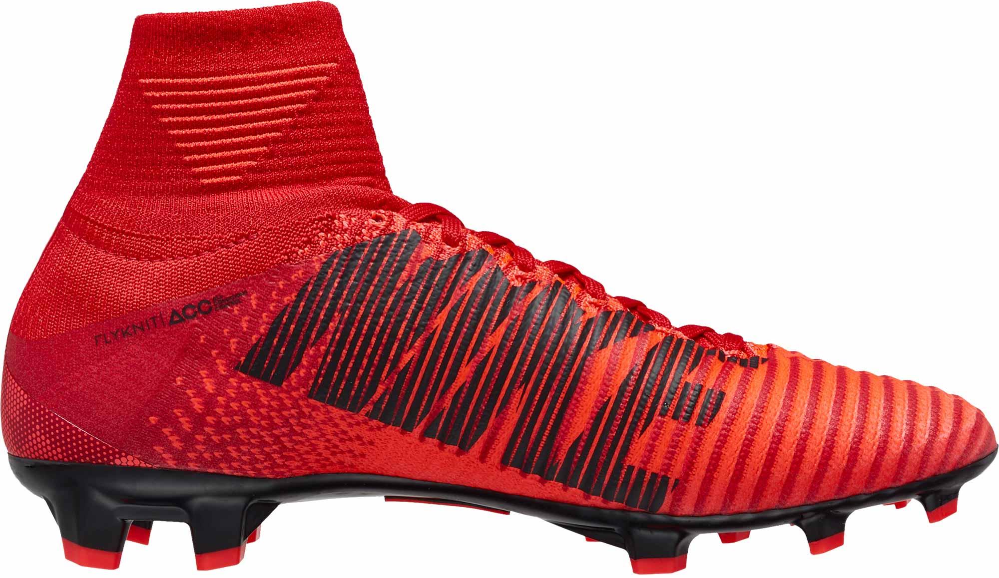 Nike Kids Mercurial Superfly V FG – University Red/Black