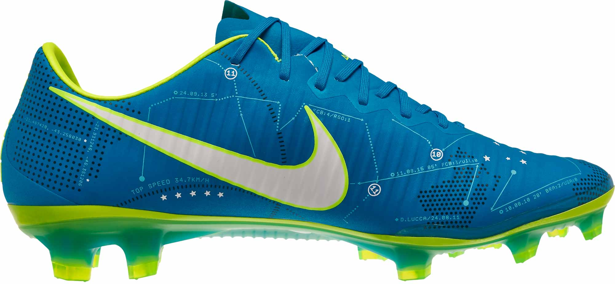 33c76abab29 Nike Mercurial Vapor XI SX FG – Neymar – Blue Orbit White