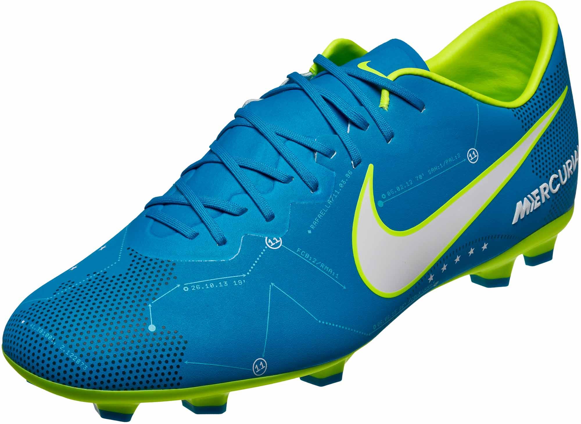 meet e0ab6 5bd11 Nike Kids Mercurial Vapor XI SX FG – Neymar – Blue Orbit/White