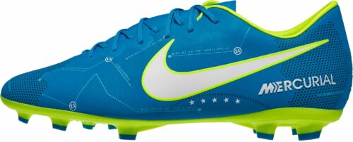 Nike Kids Mercurial Vapor XI SX FG – Neymar – Blue Orbit/White
