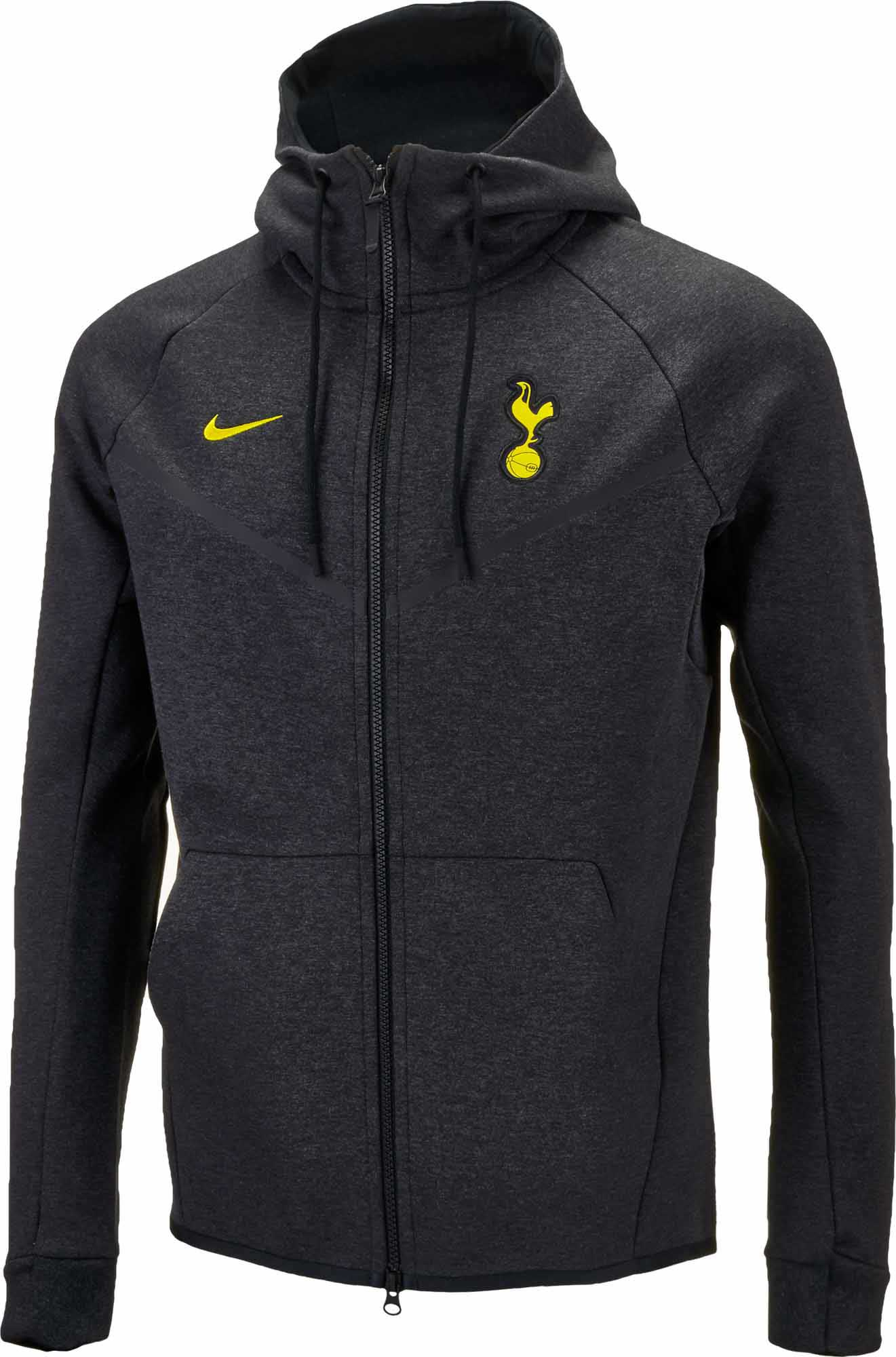 59a555d7c2dd Nike Tottenham Tech Fleece Windrunner Jacket – Black Heather Opti Yellow
