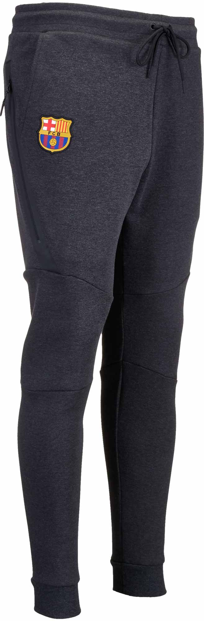 Nike Barcelona Tech Fleece Jogger Pants – Black Heather Hyper Crimson 0f0338044dc1