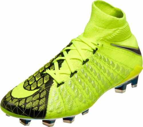 Nike Kids Hypervenom Phantom III DF FG – EA Sports – Volt/Black