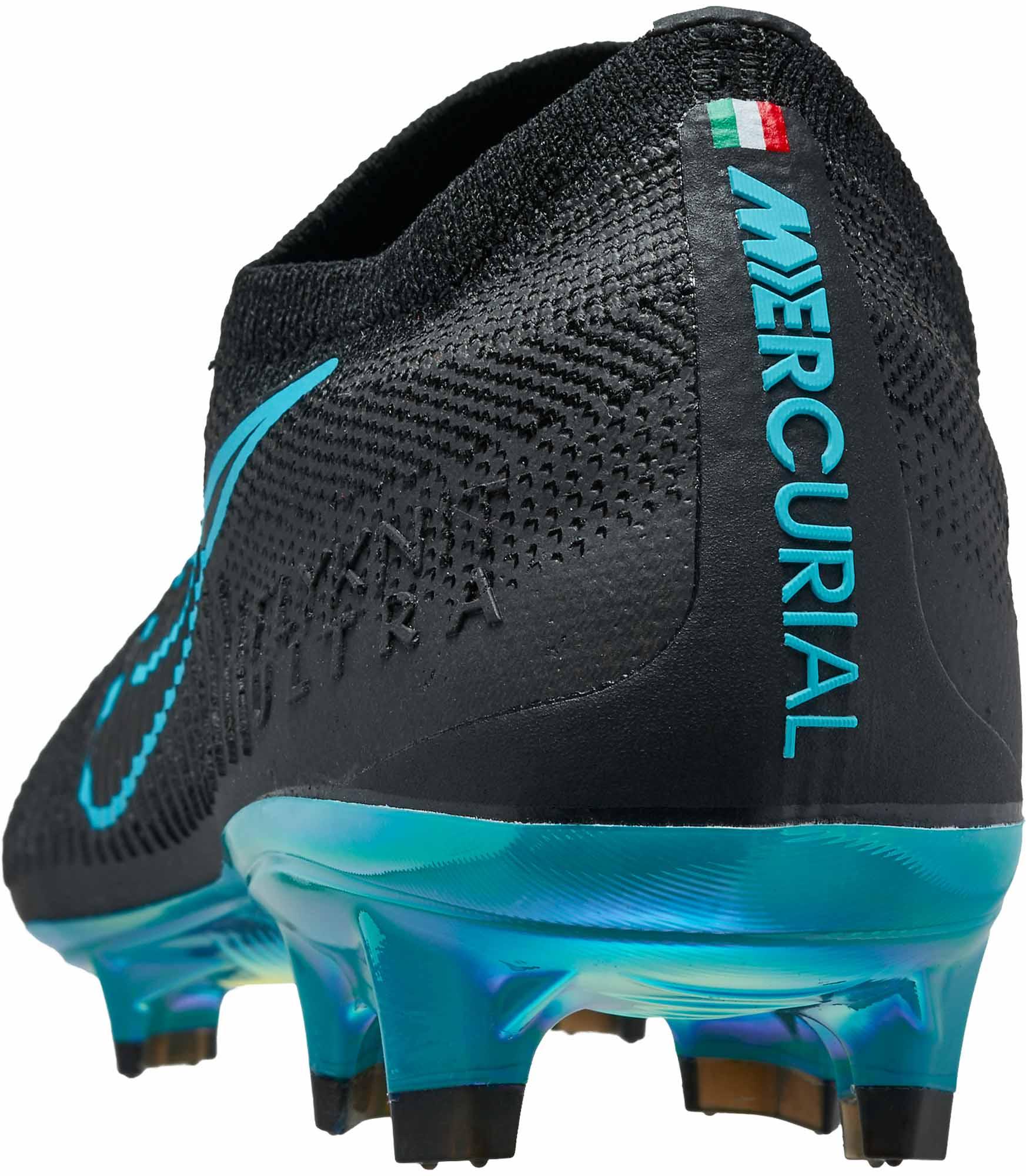 ef4b813a623 Nike Flyknit Ultra FG - Black & Gamma Blue