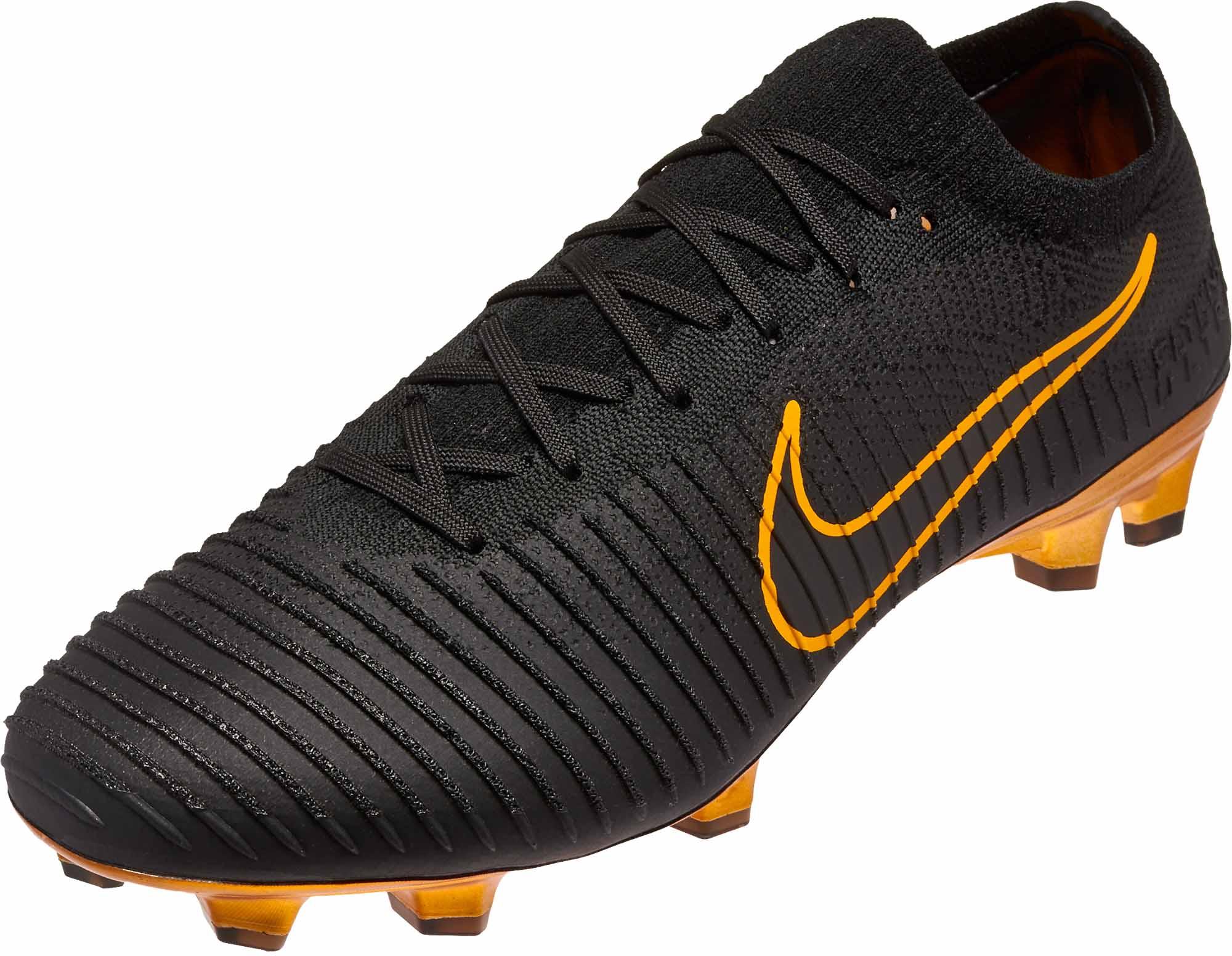 e16ba1c00928 Nike Flyknit Ultra FG - Black Nike Soccer Cleats