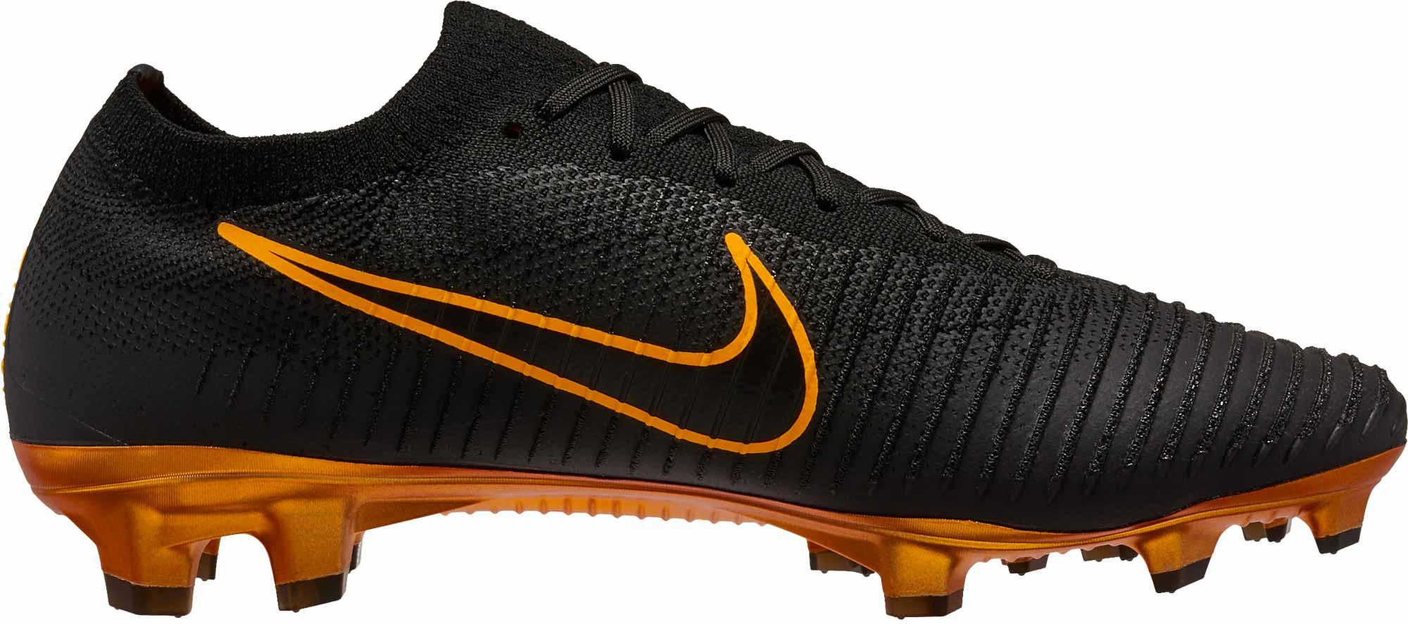 1d96a4987 Nike Flyknit Ultra FG - Black Nike Soccer Cleats