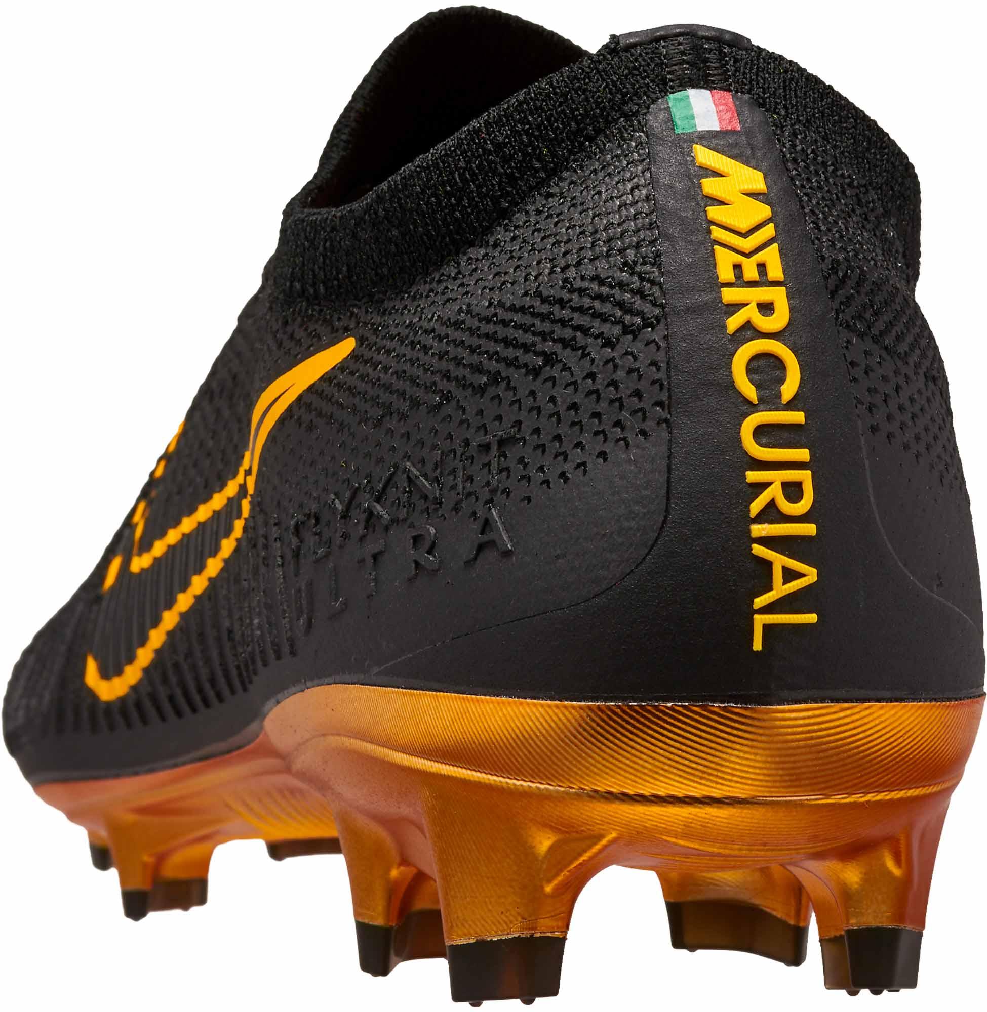 85b0060e2c5 Nike Flyknit Ultra FG - Black Nike Soccer Cleats