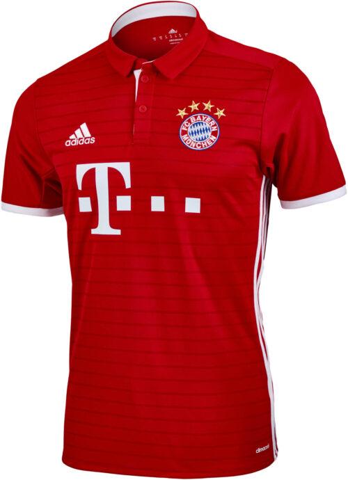 adidas Bayern Munich Home Jersey 2016-17 NS