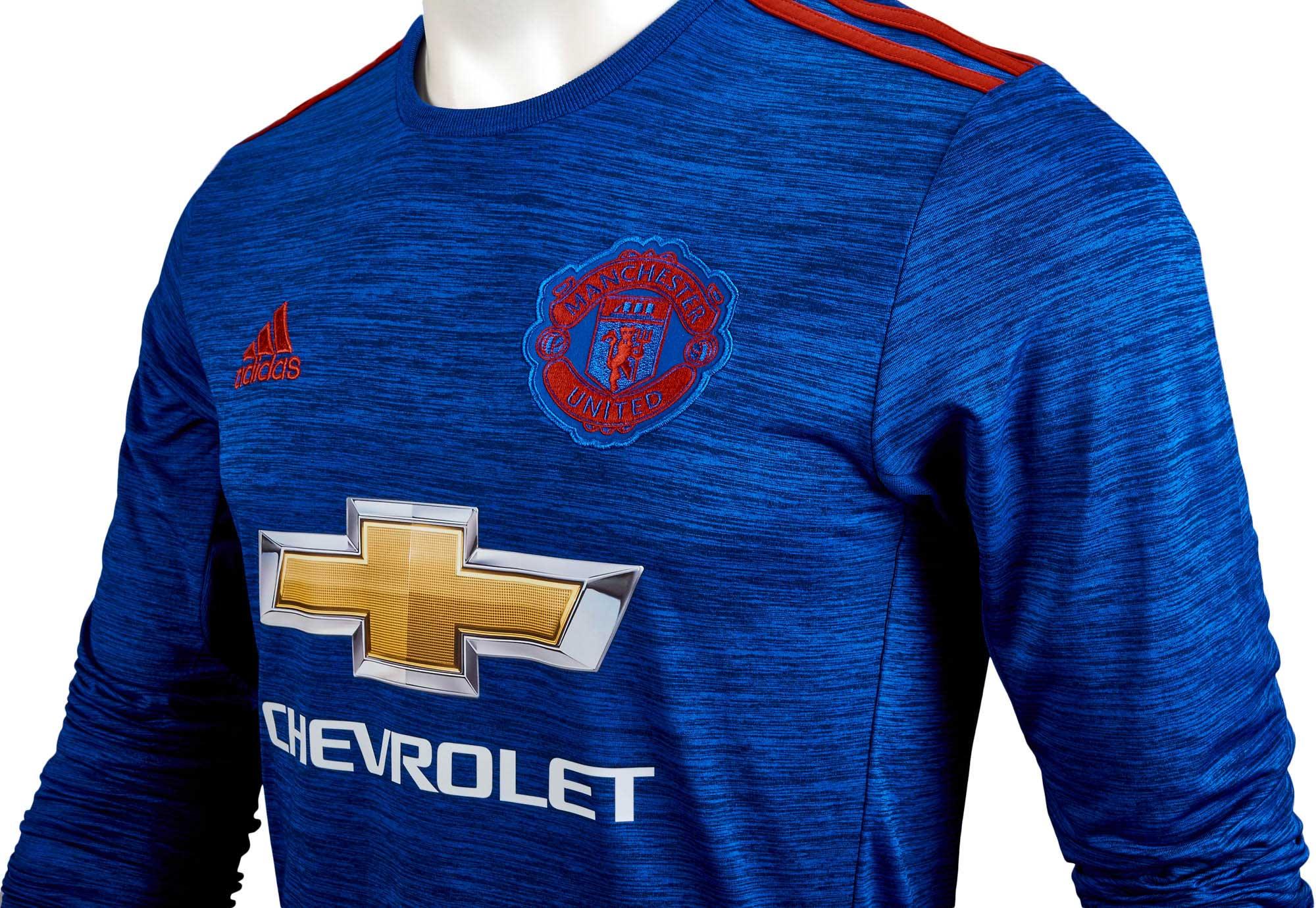 e07a0804f adidas Manchester United L S Jersey - 2016 Man United Away Jerseys